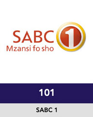 SABC 1 open view OVHD Channel 101
