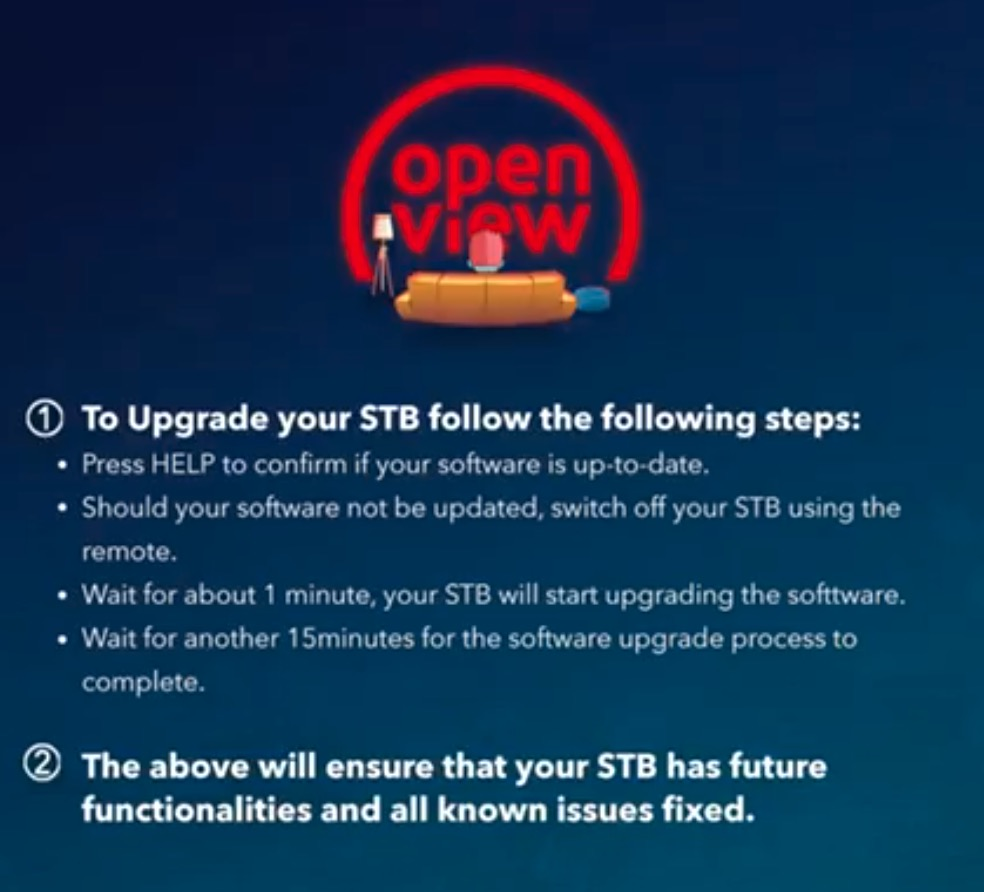 upgrade your STB software